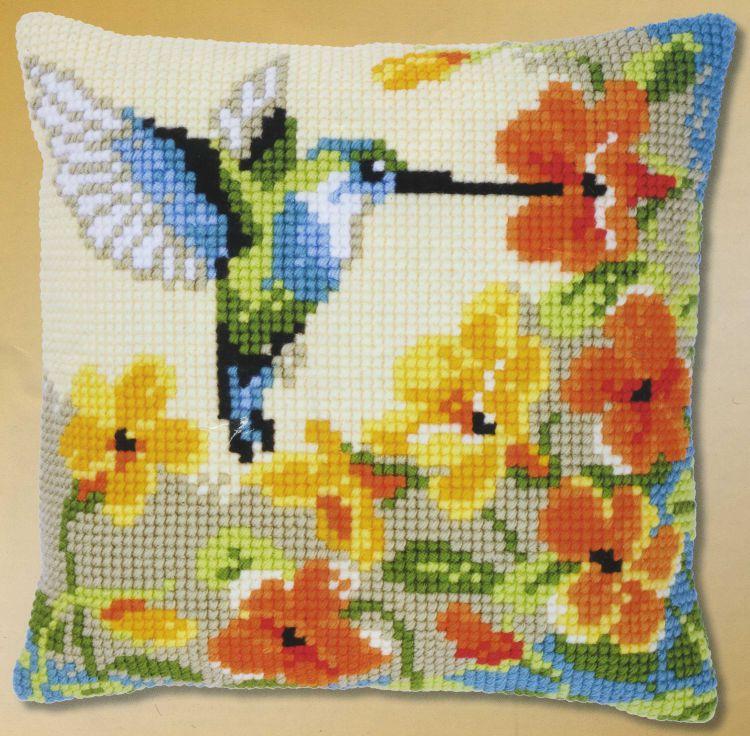 Вышивка крестиком колибри